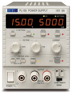 Aim-TTI PL601 Bench System DC Power Supply, Linear Regulation, Smart Analog Controls Single Output, 60V/1.5A, No Interfaces